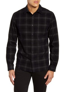 Vince Classic Fit Plaid Corduroy Button-Up Shirt