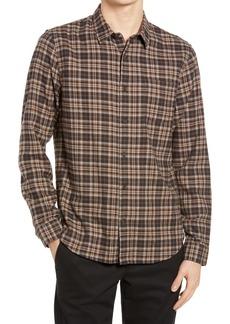 Vince Classic Fit Plaid Flannel Button-Up Shirt