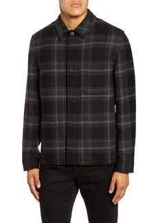Vince Classic Fit Plaid Flannel Shirt Jacket