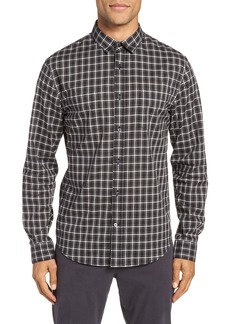 Vince Classic Fit Plaid Sport Shirt