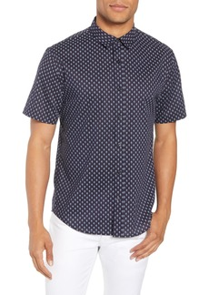 Vince Classic Fit Print Short Sleeve Sport Shirt