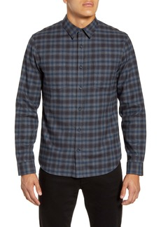 Vince Classic Fit Shadow Plaid Button-Up Flannel Shirt