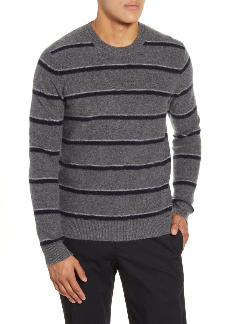 Vince Classic Fit Stripe Cashmere Sweater