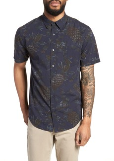 Vince Classic Fit Tropical Short Sleeve Sport Shirt