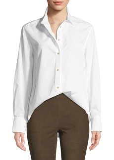 Vince Classic Long-Sleeve Button-Down Shirt