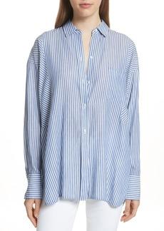 Vince Classic Stripe Cotton Blend Tunic