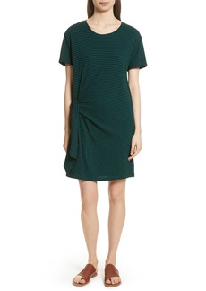 Vince Classic Stripe Side Tie Cotton Dress