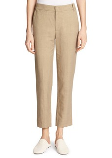 Vince Coin-Pocket Cropped Straight-Leg Trousers