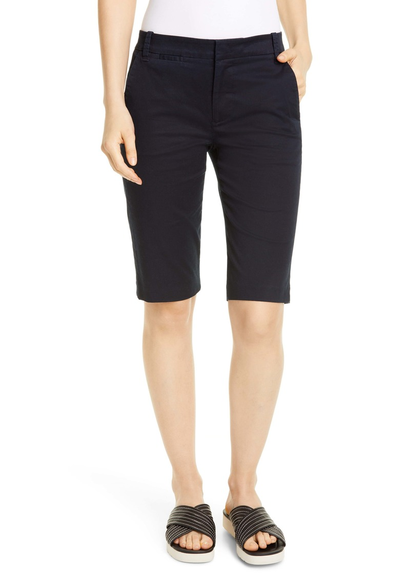 Vince Coin Pocket Stretch Cotton Bermuda Shorts