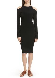Vince Cold Shoulder Body-Con Dress