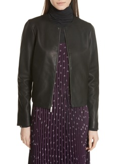 Vince Collarless Leather Jacket