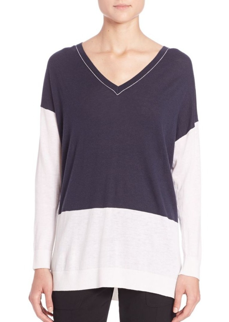 Vince Colorblock Easy-Fit Sweater