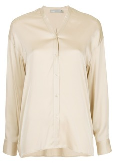 Vince concealed front blouse - Nude & Neutrals