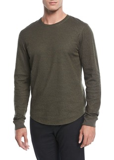 Vince Contrast Double-Knit Sweater