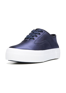 Vince Coply Satin Lace-Up Sneakers  Navy