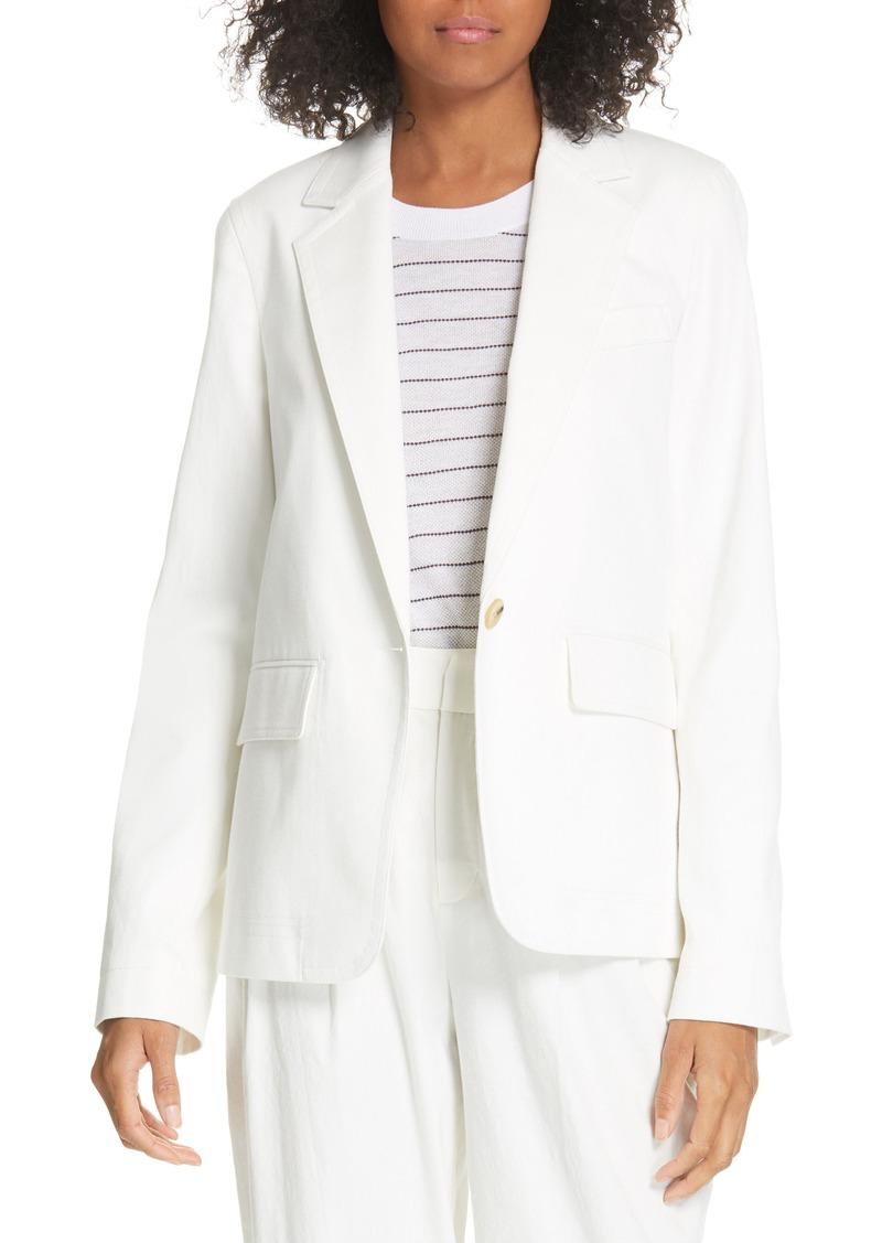 Vince Cotton & Linen Blend Jacket