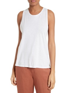 Vince Cotton & Silk Twist Back Tank