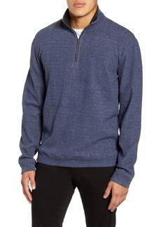 Vince Cotton Blend Quarter Zip Pullover