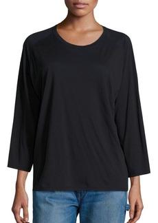Vince Cotton-Blend Raglan T-Shirt