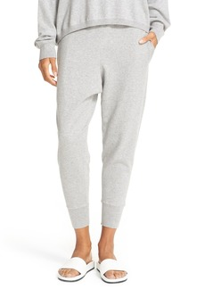 Vince Cotton Blend Sweater Knit Jogger Pants