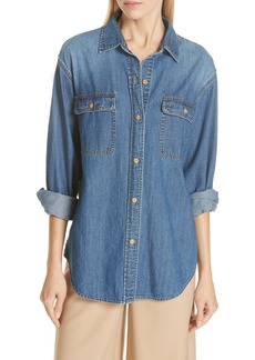 Vince Cotton Denim Shirt