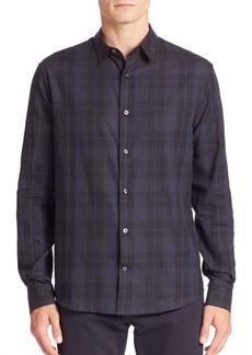 Vince Cotton Plaid Shirt