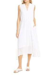 Vince Cotton Voile Midi Dress