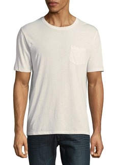 Vince Crew Cotton Pocket Tee