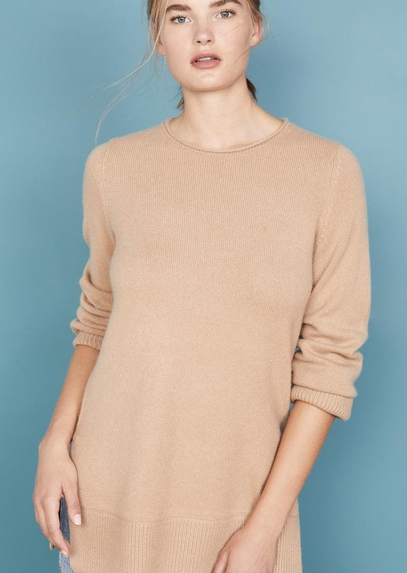 Vince Crew Neck Cashmere Tunic Sweater