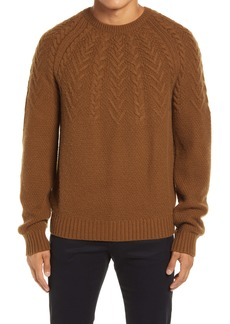 Vince Crewneck Cable Wool & Cashmere Sweater