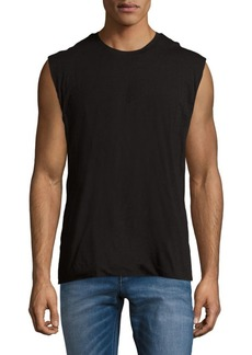 Vince Crewneck Cotton Tank Top