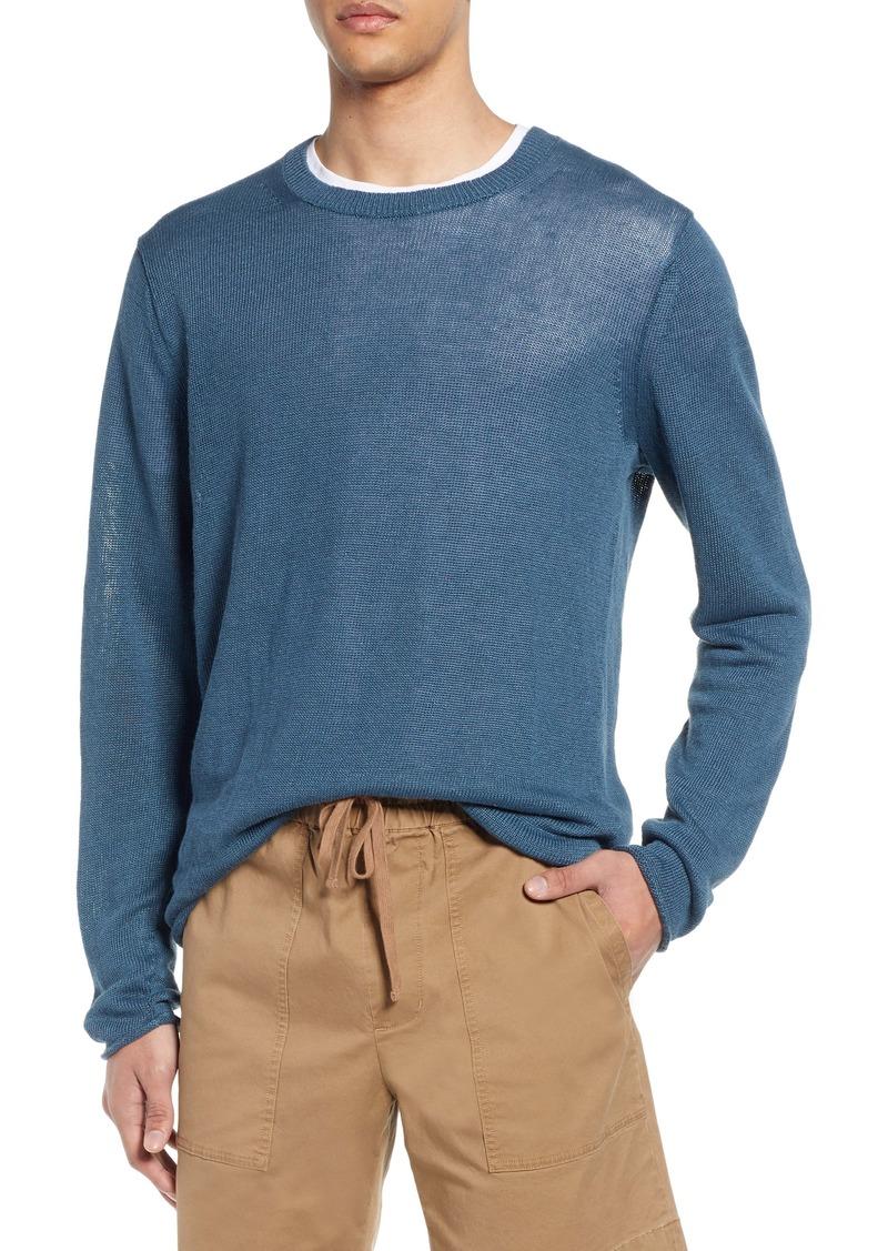 Vince Crewneck Linen Sweater