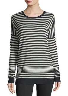 Vince Crewneck Long-Sleeve Striped Pullover Sweater