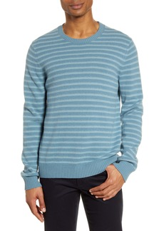 Vince Crewneck Shadow Stripe Merino Wool Sweater