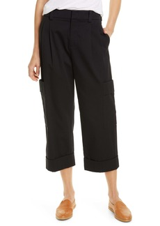 Vince Crop Cotton Cargo Pants
