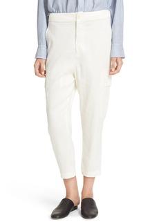 Vince Crop Linen Blend Cargo Pants