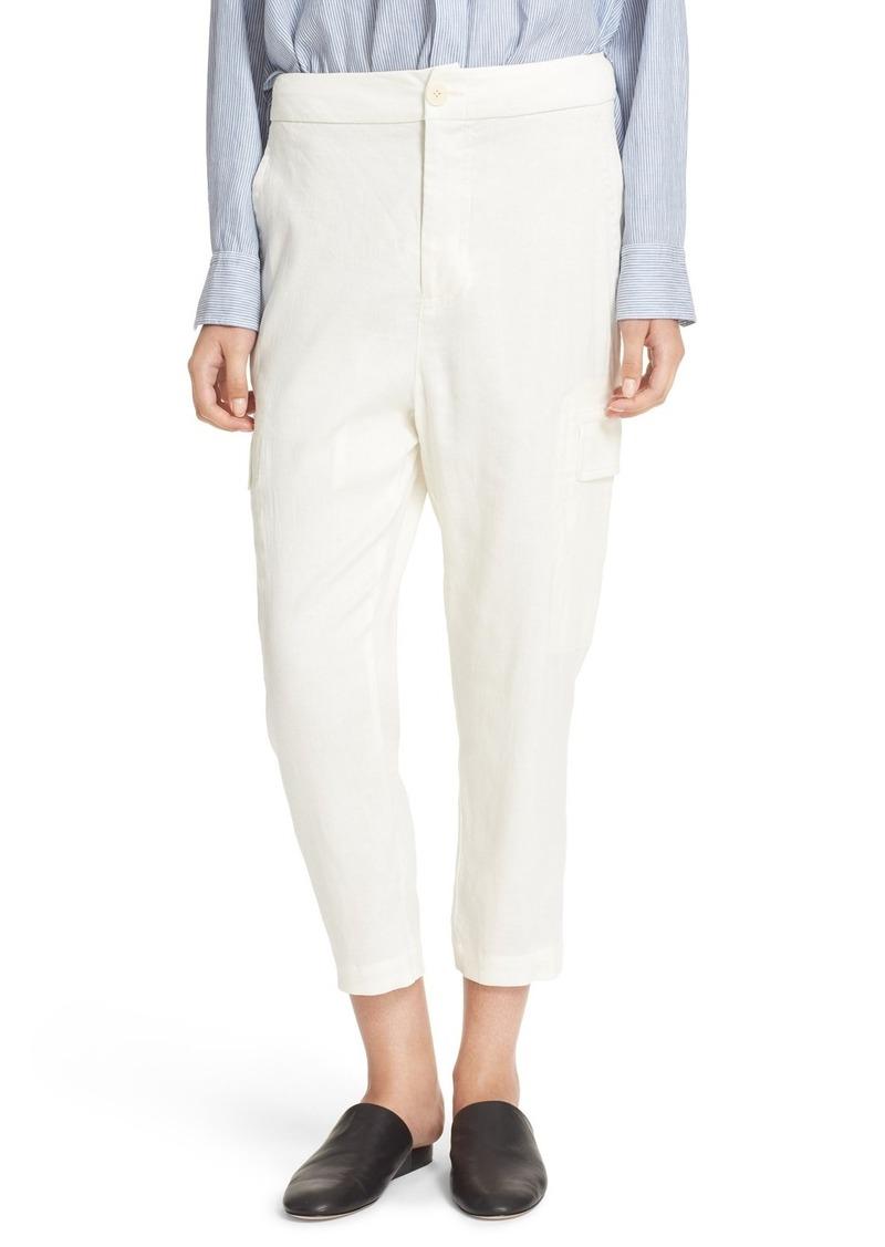 7579248a76 On Sale today! Vince Vince Crop Linen Blend Cargo Pants