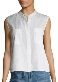 Vince Cropped Cotton Shirt