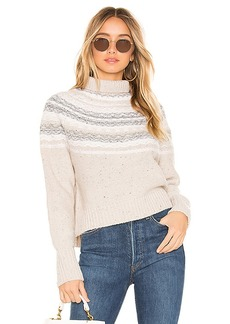 Vince Cropped Fair Isle Turtleneck