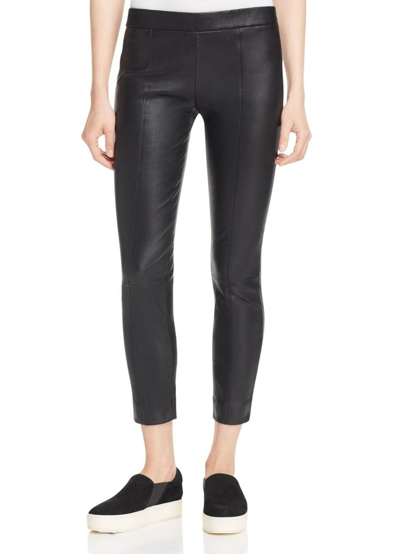 Vince Cropped Leather Pants
