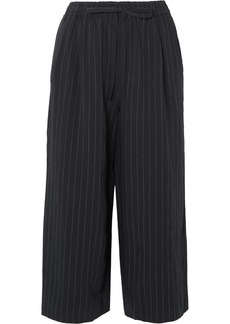Vince Cropped pinstriped twill wide-leg pants