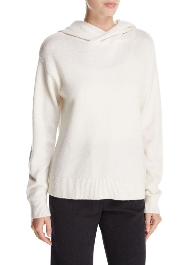 Vince Vince Crossover Cashmere-Wool Hoodie Sweater | Sweaters ...