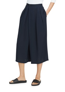 Vince Crossover Pull-On Culotte Pant