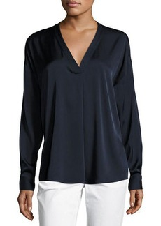 Vince Crossover V-Neck Blouse