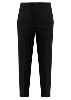 Vince Cuffed cotton-blend chino trousers