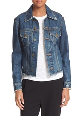 Vince Cutoff Denim Jacket