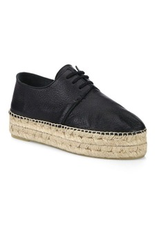 Vince Cynthia Leather Espadrille Sneakers
