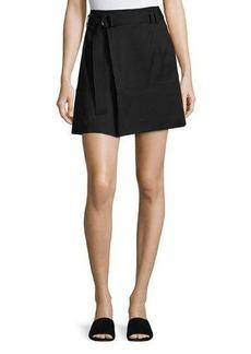 Vince D-Ring Belted Mini Skirt