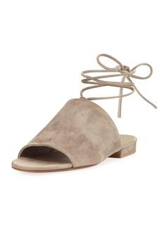 Vince Damon Flat Lace-Up Slide Sandal