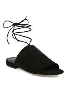 Vince Damon Suede Ankle-Tie Slides